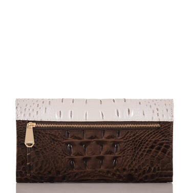 Soft Checkbook Wallet Toasted Macaroon Cassini Back