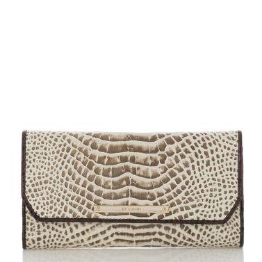 Soft Checkbook Wallet Creme Rhodes Front