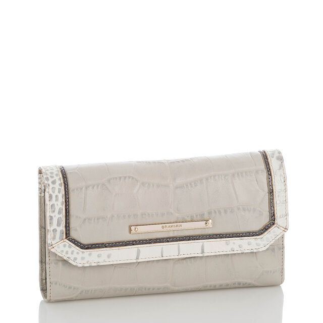 Soft Checkbook Wallet Dove Hanover, Dove, hi-res
