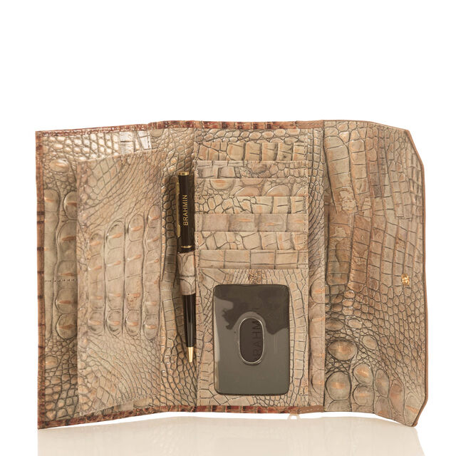 Soft Checkbook Wallet Riesling Tri-Texture, Riesling, hi-res