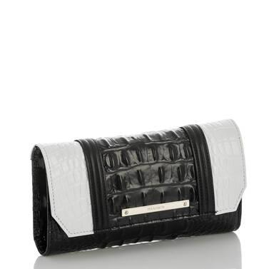 Soft Checkbook Wallet Black Crane Side