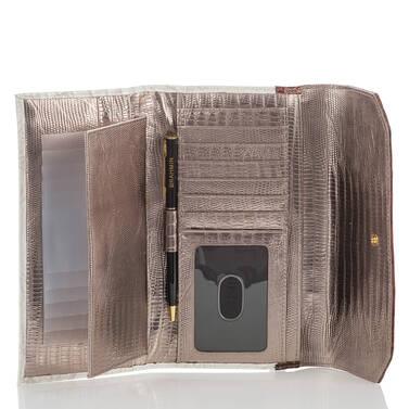 Soft Checkbook Wallet Pearl Akoya Interior