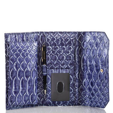 Soft Checkbook Wallet Denim DelRay Interior