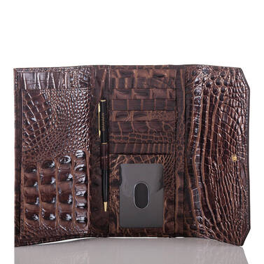 Soft Checkbook Wallet Quill Greco Interior