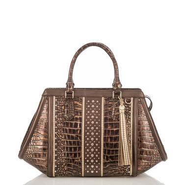 Arden Satchel Brown Milan Front