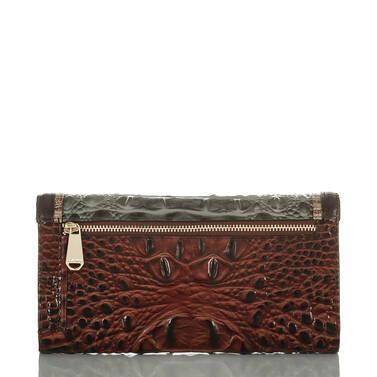 Modern Checkbook Wallet Serpentine Heartwood Back