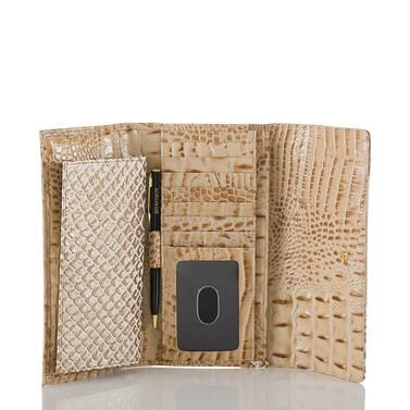 Soft Checkbook Wallet Latte Sahara Interior