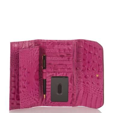 Soft Checkbook Wallet Raspberry Biscayne Interior