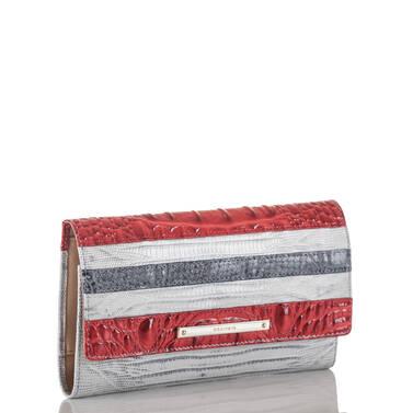 Soft Checkbook Wallet Bluestone Habanera Side