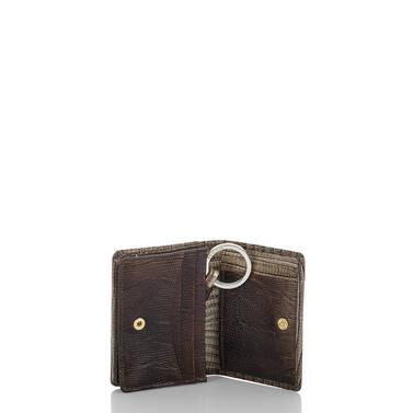 Mini Key Wallet Sable Fashion Lizard Interior