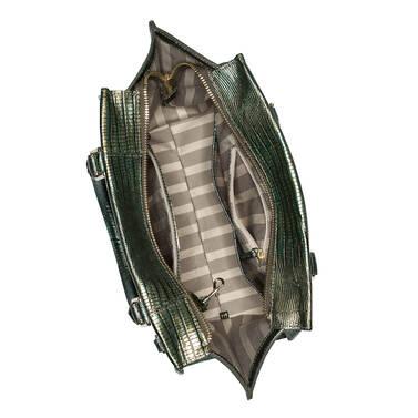Priscilla Satchel Emerald Moa Interior