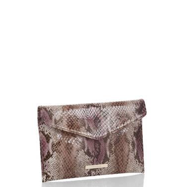 Envelope Clutch Violet Hibiscus Side