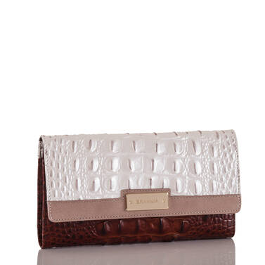Soft Checkbook Wallet Toasted Macaroon Durance Side