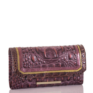 Soft Checkbook Wallet Fig Chapelle Side