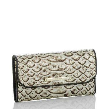 Soft Checkbook Wallet Pearl Dogwood Side