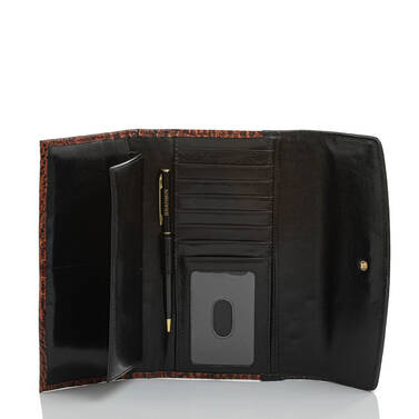 Modern Checkbook Wallet Linen Osmia Interior
