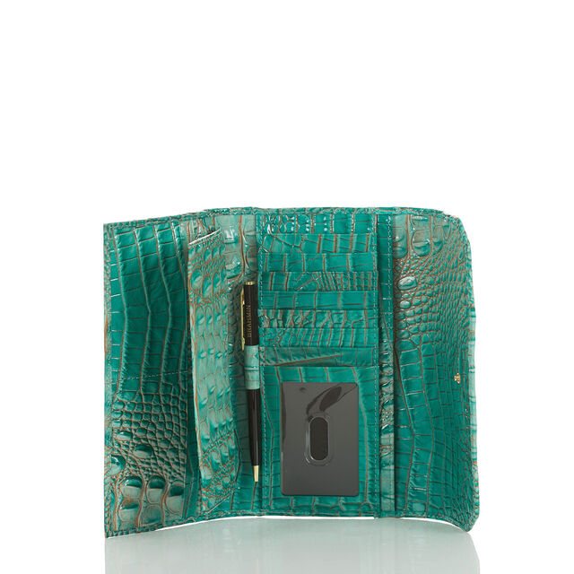 Soft Checkbook Wallet Turquoise Melbourne, Turquoise, hi-res