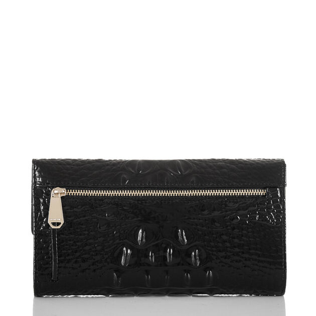 Soft Checkbook Wallet Black Melbourne