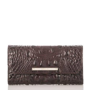Soft Checkbook Wallet Siltstone Bologna Front