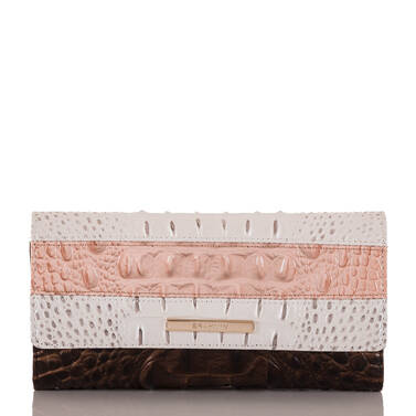 Soft Checkbook Wallet Toasted Macaroon Cassini Front