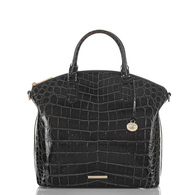 Large Duxbury Satchel Black Veil, Black, hi-res