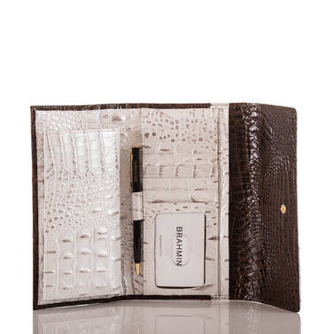 Soft Checkbook Wallet Toasted Macaroon Cassini Interior