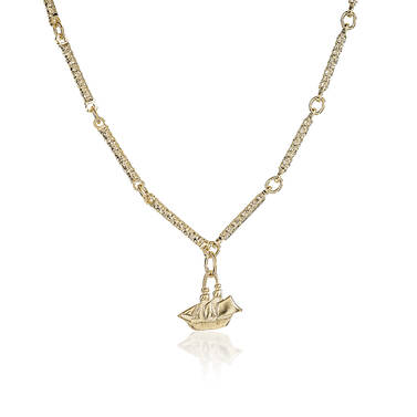 Endless Bar Chain 18K Gold Plated Providence Side