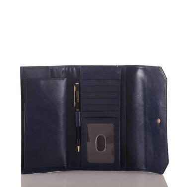 Soft Checkbook Wallet Blue Lorena Interior