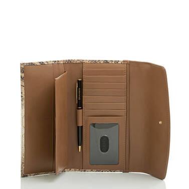 Modern Checkbook Wallet Cappuccino Delancy Interior