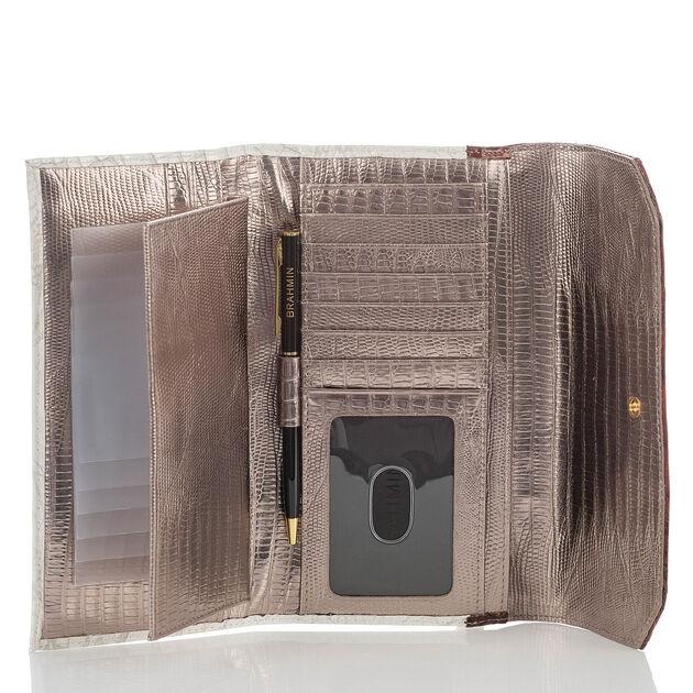 Soft Checkbook Wallet Pearl Akoya