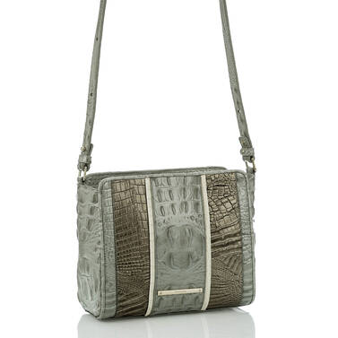 Carrie Crossbody Silver Sage Tarama Side