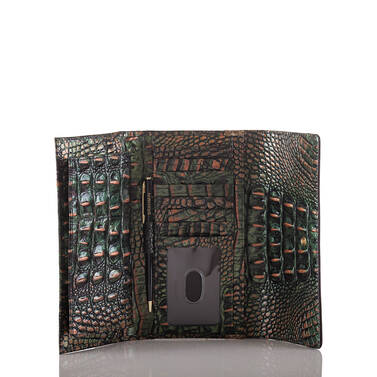 Soft Checkbook Wallet Riviera Kingfisher Interior