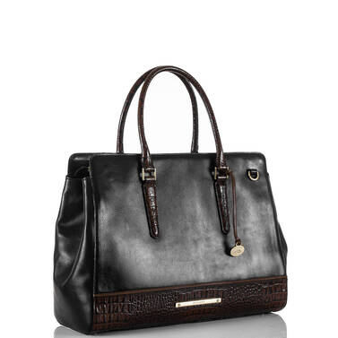 Finley Carryall Black Tuscan Tri-Texture Side