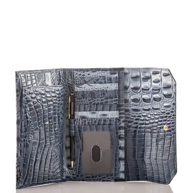 Soft Checkbook Wallet Denim Tri-Texture Interior