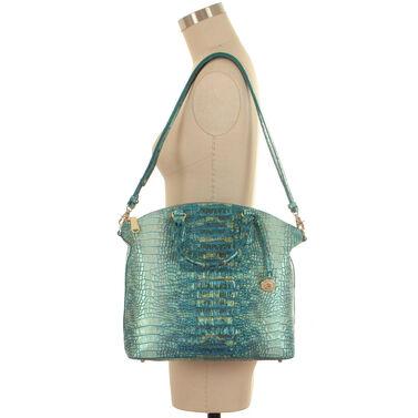 Large Duxbury Satchel Turquoise Sandestin Front