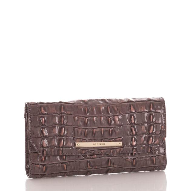 Soft Checkbook Wallet Aubergine La Scala