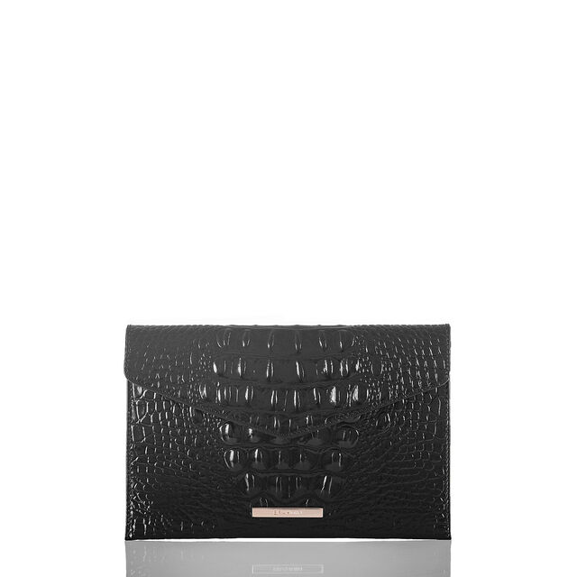 Envelope Clutch Black Melbourne, Black, hi-res