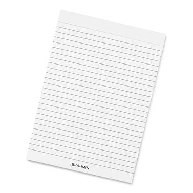Ruled NotePad Top-Bound A5 White Stationery Front