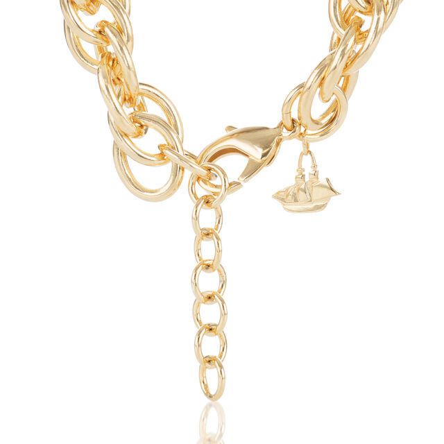 Double Round Chain Necklace Light Gold Providence, Light Gold, hi-res