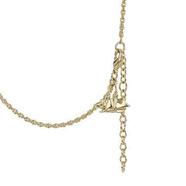 Fairhaven Duo Tassel Necklace Black Jewelry Side