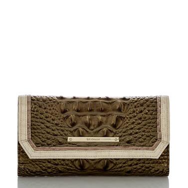 Soft Checkbook Wallet Oak Primrose Front