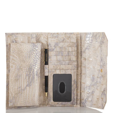 Soft Checkbook Wallet Topaz Alma Interior