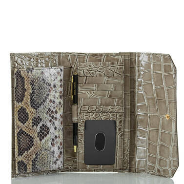 Soft Checkbook Wallet Natural Leighton Interior