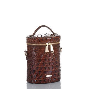 Brynn Barrel Bag Pecan Melbourne Side
