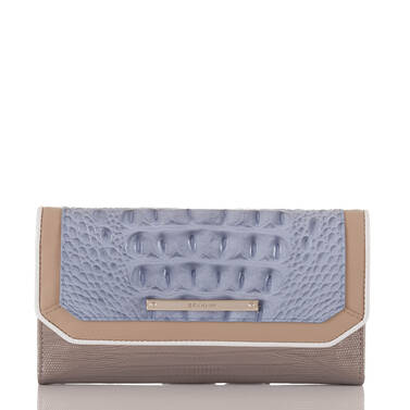 Soft Checkbook Wallet Periwinkle Fontainebleau Front