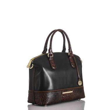 Duxbury Satchel Black Tuscan Tri-Texture Side