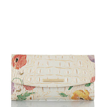 Modern Checkbook Wallet Multi Papaver Front