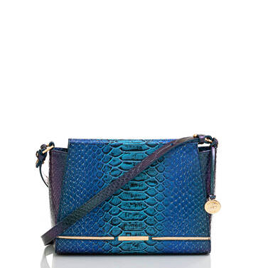 Hillary Electric Blue Ateague Front Brahmin Exclusive