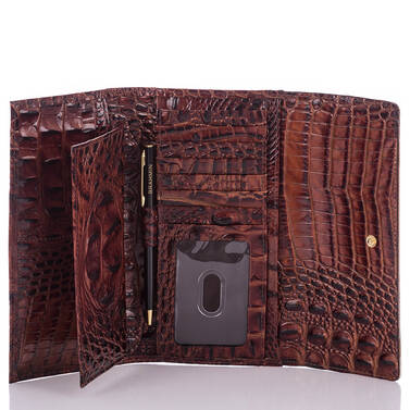 Soft Checkbook Wallet Andesite Lucino Interior