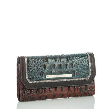 Soft Checkbook Wallet Ivy Figaro Side